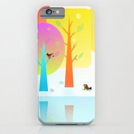 Winter Friends Meet In The Woods iPhone Case