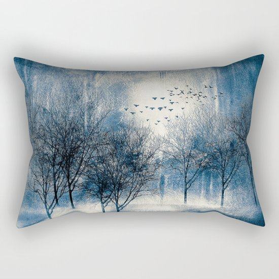 Paisaje y color (azul) Rectangular Pillow