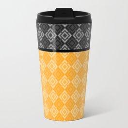 Black , yellow ,geometric Travel Mug