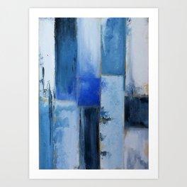 Abstracto azul Art Print