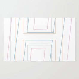 Intertwined Strength and Elegance of the Letter H Rug