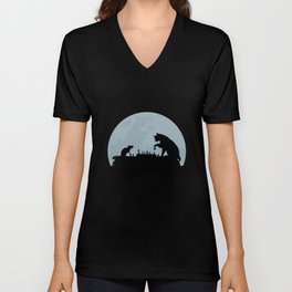 Cat And Rat Play Chess Unisex V-Neck