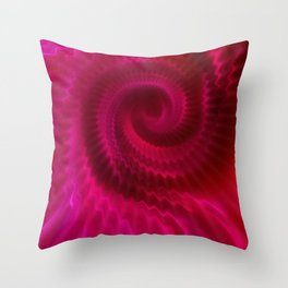 Red Power Wave Throw Pillow