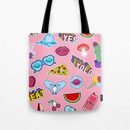 Pink Graffiti Collage Tote Bag