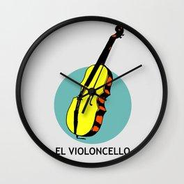 El Violoncello Mexican Loteria Card Wall Clock
