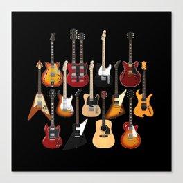 Too Many Guitars! Canvas Print
