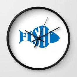 Christian Fishing Gift Product Jesus Fish Story Religious God Design Wall Clock