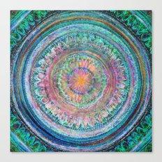 Pink and Turquoise Mandala Canvas Print