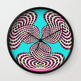 Trip the Fantasic 90s Colors Wall Clock