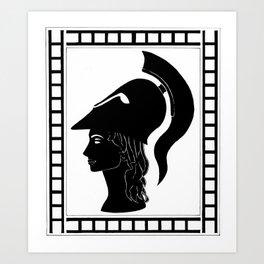 Goddess of wisdom and war Art Print