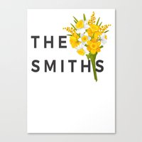 smiths Canvas Prints featuring SMITHS by priscilawho