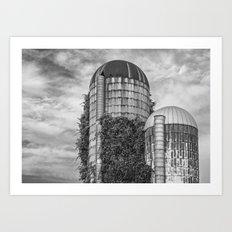 Abandoned Silos Art Print