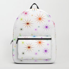 Colorful Twinkling Stars Pattern Backpack