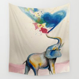 Elephant rainbow Wall Tapestry