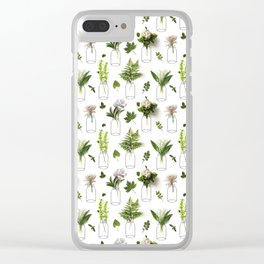 Garden Greens Clear iPhone Case