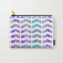 Chevron Lilac Carry-All Pouch