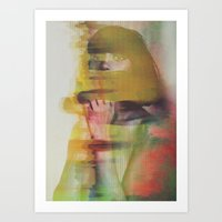 glitch Art Prints featuring Glitch by Andreas Lie