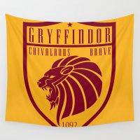 gryffindor Wall Tapestries featuring Gryffindor Crest by machmigo