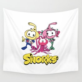 Swim along Snorks Cast Tribute Wall Tapestry