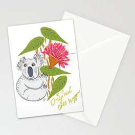 Koala animal nature lover happy print Stationery Cards