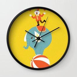 Circus Act Wall Clock