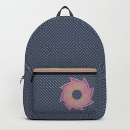 Pink and Gold on Denim Backpack