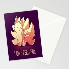 I give Zero Fox Stationery Cards