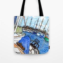 Boats at the Marina Tote Bag