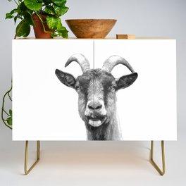 Black and White Goat Credenza