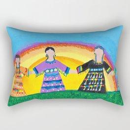 Jingle Dress Sisters Rectangular Pillow