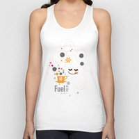 pocket fuel Tank Tops featuring Fuel of  the day by inkdesigner