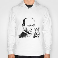 putin Hoodies featuring Putin cool by Valentina