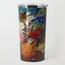 "Jan van Huysum ""Flowers in a Terracotta Vase"" Travel Mug"