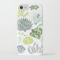 succulents iPhone & iPod Cases featuring Succulents  by Rae Ritchie