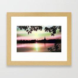 Pastel Sunset. Framed Art Print
