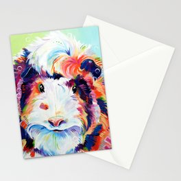 Abyssinian Guinea Pig in Color Stationery Cards