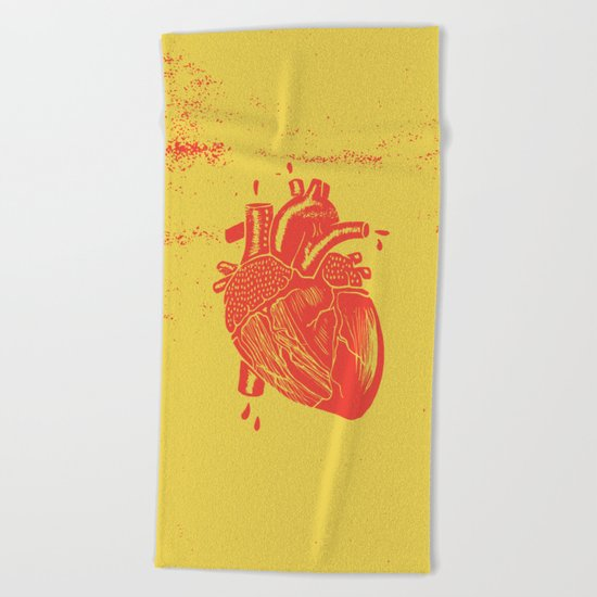 heart2 Beach Towel