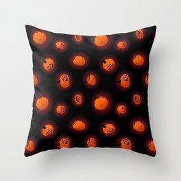 Halloween Light Pumpkins Throw Pillow