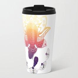 Psychedelic Lotus Travel Mug