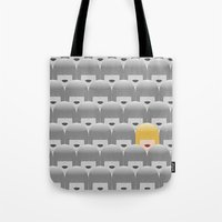 sia Tote Bags featuring Thousand faces of Sia. by dornellaz