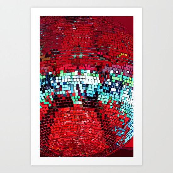 Glitter Ball Art Print
