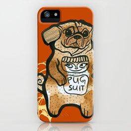 Pug Suit iPhone Case