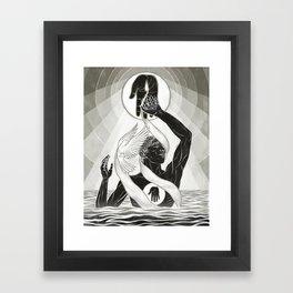 CREATION - MONOCHROME Framed Art Print