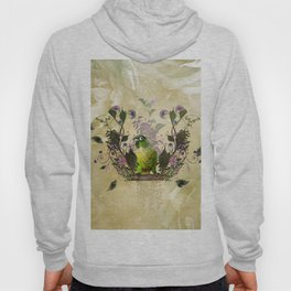 Cute parrot with flowers Hoody