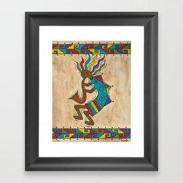 Kokopelli Dancing Framed Art Print