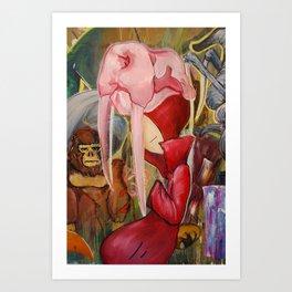 Red Shadow Art Print