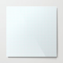 White Cell Checks Metal Print