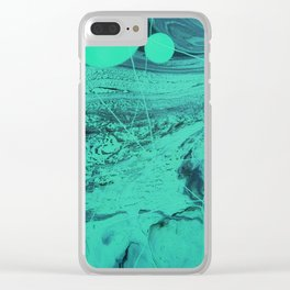 NEON BUBBLES Clear iPhone Case