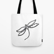 Dragonfly in Ink Tote Bag
