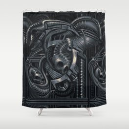 Biomechanic Shower Curtain